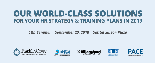 L&D SEMINAR: OUR WORLD-CLASS SOLUTIONS FOR YOUR HR STRATEGY & TRAINING PLANS IN 2019