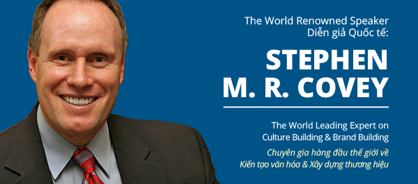 STEPHEN M. R. COVEY - THE WORLD RENOWNED SPEAKER OF THE SEMINAR ON MANAGEMENT: